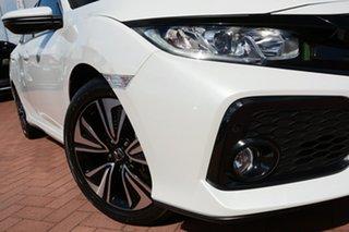 2019 Honda Civic 10th Gen MY19 VTi-L Platinum White 1 Speed Constant Variable Hatchback.