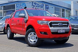 2015 Ford Ranger PX MkII XLS Double Cab Red 6 Speed Manual Utility.