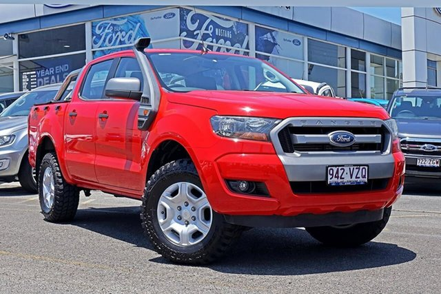 Used Ford Ranger PX MkII XLS Double Cab, 2015 Ford Ranger PX MkII XLS Double Cab Red 6 Speed Manual Utility