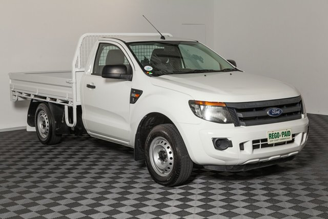 Used Ford Ranger PX XL 4x2, 2015 Ford Ranger PX XL 4x2 White 6 speed Manual Cab Chassis