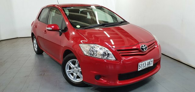 Used Toyota Corolla ZRE152R MY11 Ascent, 2011 Toyota Corolla ZRE152R MY11 Ascent Red 6 Speed Manual Hatchback