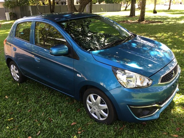 Used Mitsubishi Mirage LA MY17 ES, 2017 Mitsubishi Mirage LA MY17 ES Blue Continuous Variable Hatchback