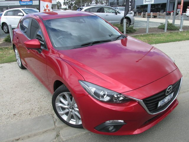 Used Mazda 3 BM5438 SP25 SKYACTIV-Drive, 2014 Mazda 3 BM5438 SP25 SKYACTIV-Drive Red 6 Speed Sports Automatic Hatchback