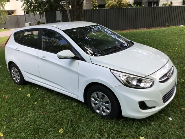Used Hyundai Accent RB4 MY16 Active, 2016 Hyundai Accent RB4 MY16 Active White 6 Speed CVT Auto Sequential Hatchback