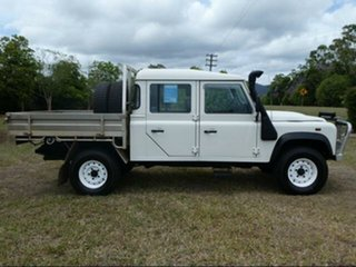 2007 Land Rover Defender 130 (4x4) White 6 Speed Manual Crew Cab Chassis.