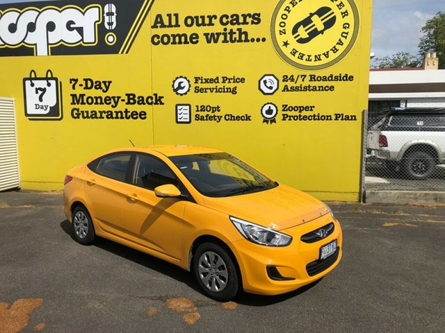 Used Hyundai Accent RB4 MY17 Active, 2016 Hyundai Accent RB4 MY17 Active Sunflower 6 Speed Constant Variable Sedan