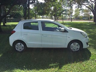 2017 Mitsubishi Mirage LA MY17 ES White Continuous Variable Hatchback.