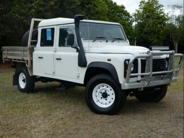 Used Land Rover Defender  130 (4x4), 2007 Land Rover Defender 130 (4x4) White 6 Speed Manual Crew Cab Chassis