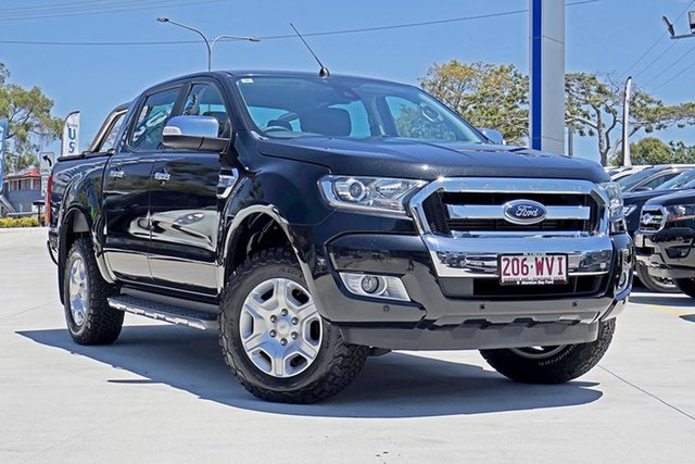 Used Ford Ranger PX MkII XLT Double Cab, 2016 Ford Ranger PX MkII XLT Double Cab Jet Black 6 Speed Sports Automatic Utility