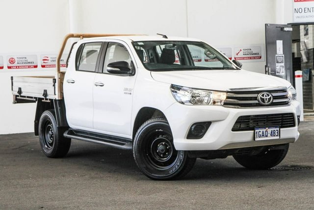 Used Toyota Hilux GUN126R SR (4x4), 2016 Toyota Hilux GUN126R SR (4x4) Glacier White 6 Speed Automatic Dual Cab Chassis