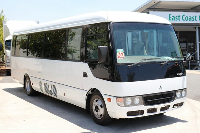 Used Mitsubishi Rosa BE64D Deluxe, 2010 Mitsubishi Rosa BE64D Deluxe White Manual Bus
