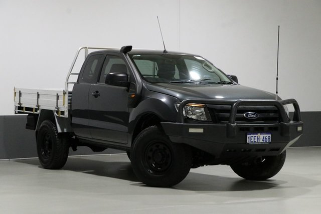 Used Ford Ranger PX XL 3.2 (4x4), 2013 Ford Ranger PX XL 3.2 (4x4) Grey 6 Speed Manual Super Cab Chassis