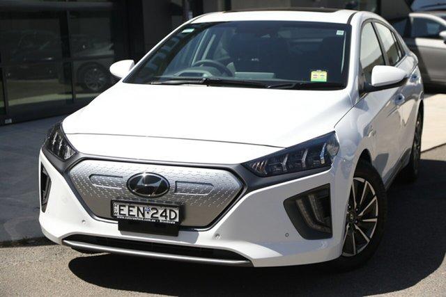 Demo Hyundai Ioniq AE.3 MY20 electric Premium, 2019 Hyundai Ioniq AE.3 MY20 electric Premium Polar White 1 Speed Reduction Gear Fastback