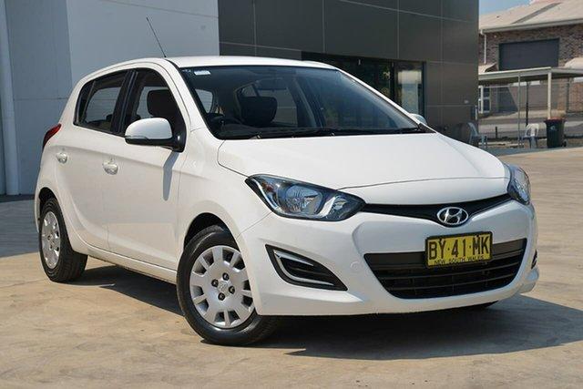 Used Hyundai i20 PB MY14 Active, 2013 Hyundai i20 PB MY14 Active White 4 Speed Automatic Hatchback