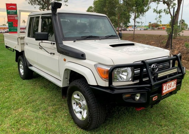 Used Toyota Landcruiser VDJ79R GXL Double Cab, 2016 Toyota Landcruiser VDJ79R GXL Double Cab White 5 Speed Manual Cab Chassis
