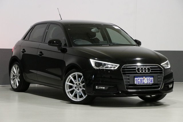 Used Audi A1 8X MY17 Sportback 1.4 TFSI Sport, 2017 Audi A1 8X MY17 Sportback 1.4 TFSI Sport Black 7 Speed Auto Direct Shift Hatchback