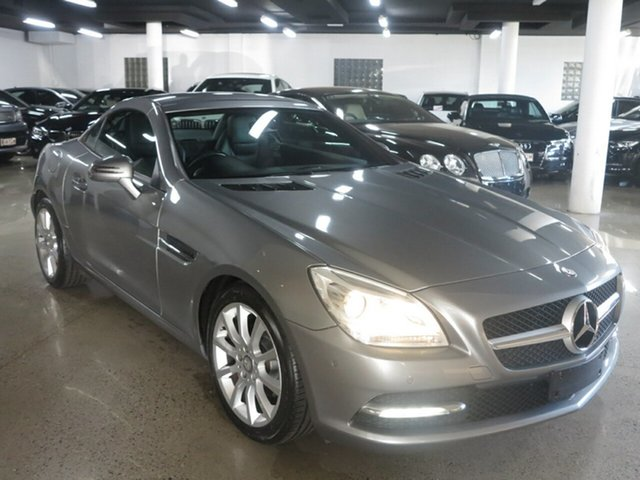 Used Mercedes-Benz SLK-Class R172 SLK200 BlueEFFICIENCY 7G-Tronic +, 2011 Mercedes-Benz SLK-Class R172 SLK200 BlueEFFICIENCY 7G-Tronic + Palladium Silver 7 Speed