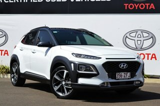 2018 Hyundai Kona OS Highlander (FWD) White 6 Speed Automatic Wagon.
