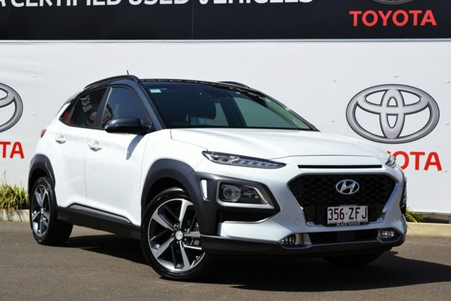 Used Hyundai Kona OS Highlander (FWD), 2018 Hyundai Kona OS Highlander (FWD) White 6 Speed Automatic Wagon