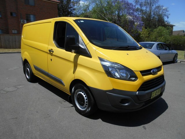 Used Ford Transit Custom VN 290S (SWB), 2014 Ford Transit Custom VN 290S (SWB) Yellow 6 Speed Manual Van