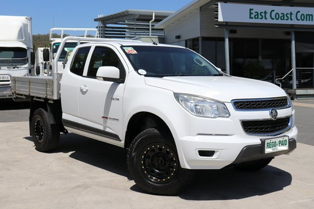 Used Holden Colorado RG MY14 LX Space Cab, 2013 Holden Colorado RG MY14 LX Space Cab White 6 Speed Manual Cab Chassis