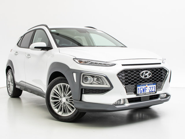 Demo Hyundai Kona OS.3 MY20 Elite (FWD), 2019 Hyundai Kona OS.3 MY20 Elite (FWD) Chalk White 6 Speed Automatic Wagon
