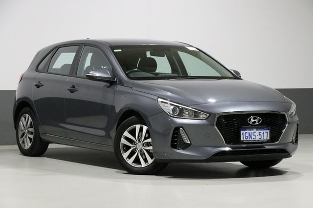 Used Hyundai i30 PD Active, 2018 Hyundai i30 PD Active Grey 6 Speed Auto Sequential Hatchback