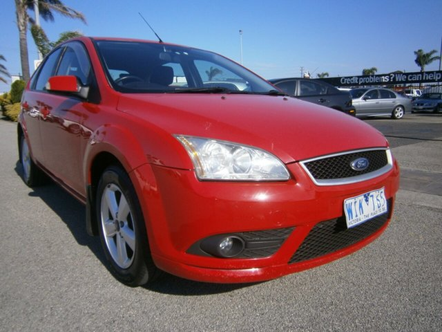 Used Ford Focus LT LX, 2008 Ford Focus LT LX Red 4 Speed Sports Automatic Hatchback