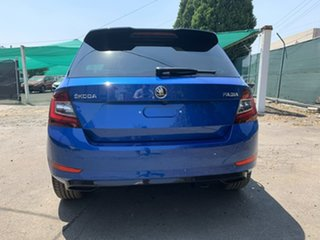 2019 Skoda Fabia NJ MY19 81TSI DSG Monte Carlo Blue 7 Speed Sports Automatic Dual Clutch Hatchback