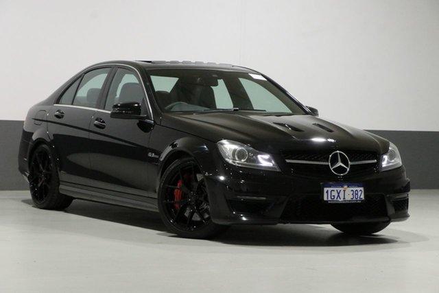 Used Mercedes-Benz C63 W204 MY14 AMG Edition 507, 2013 Mercedes-Benz C63 W204 MY14 AMG Edition 507 Obsidian Black 7 Speed Automatic G-Tronic Sedan