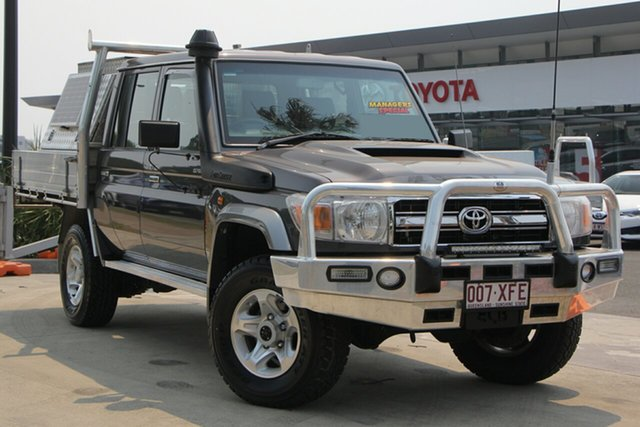 Used Toyota Landcruiser VDJ79R GXL Double Cab, 2017 Toyota Landcruiser VDJ79R GXL Double Cab Graphite 5 Speed Manual Cab Chassis