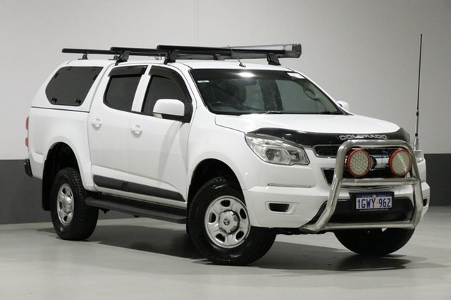 Used Holden Colorado RG MY14 LX (4x2), 2013 Holden Colorado RG MY14 LX (4x2) White 6 Speed Automatic Crew Cab Pickup