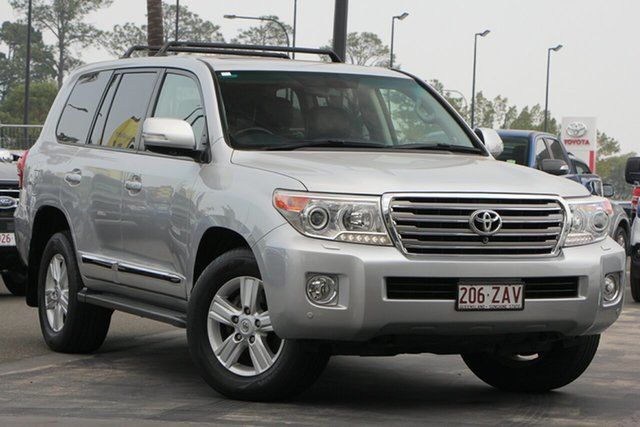 Used Toyota Landcruiser VDJ200R MY13 Sahara, 2014 Toyota Landcruiser VDJ200R MY13 Sahara Silver 6 Speed Sports Automatic Wagon
