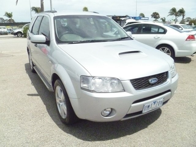 Used Ford Territory SY Turbo AWD Ghia, 2006 Ford Territory SY Turbo AWD Ghia Silver 6 Speed Sports Automatic Wagon
