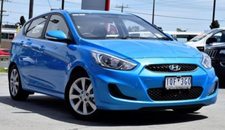 2019 Hyundai Accent RB6 MY19 Sport Blue Lagoon 6 Speed Sports Automatic Hatchback.