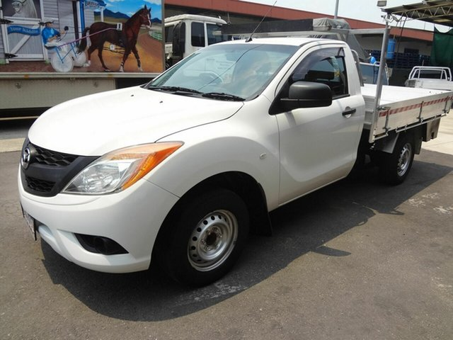 Used Mazda BT-50 MY13 XT (4x2), 2013 Mazda BT-50 MY13 XT (4x2) White 6 Speed Manual Cab Chassis
