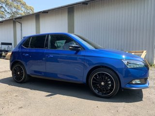 2019 Skoda Fabia NJ MY19 81TSI DSG Monte Carlo Blue 7 Speed Sports Automatic Dual Clutch Hatchback.