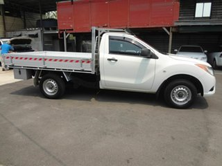 2013 Mazda BT-50 MY13 XT (4x2) White 6 Speed Manual Cab Chassis.