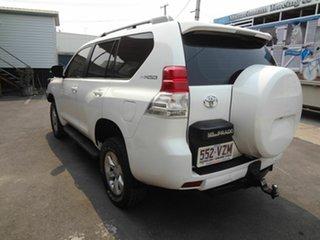 2009 Toyota Landcruiser Prado KDJ120R 07 Upgrade Standard (4x4) White 5 Speed Automatic Wagon.