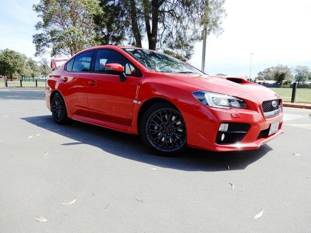 Used Subaru WRX V1 MY17 STI AWD, 2016 Subaru WRX V1 MY17 STI AWD Pure Red 6 Speed Manual Sedan