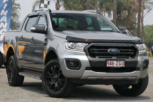 Used Ford Ranger PX MkIII 2019.00MY Wildtrak Pick-up Double Cab, 2019 Ford Ranger PX MkIII 2019.00MY Wildtrak Pick-up Double Cab Aluminium 10 Speed Sports Automatic