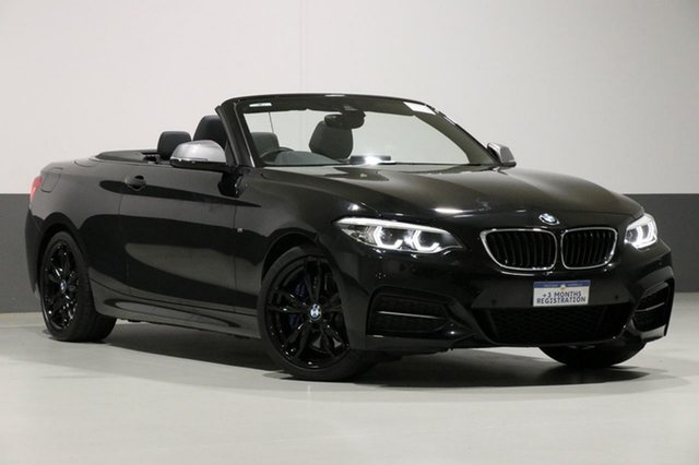 Used BMW M240i F23 MY18 M240I, 2018 BMW M240i F23 MY18 M240I Black 8 Speed Automatic Convertible