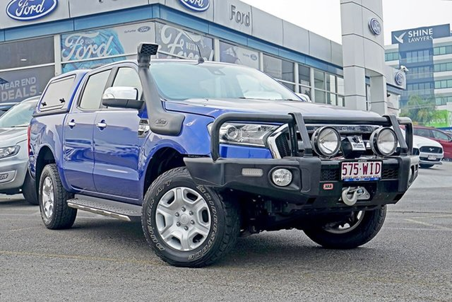 Used Ford Ranger PX MkII XLT Double Cab, 2016 Ford Ranger PX MkII XLT Double Cab Blue 6 Speed Sports Automatic Utility