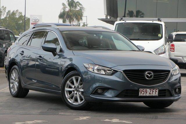 Used Mazda 6 GJ1021 Touring SKYACTIV-Drive, 2014 Mazda 6 GJ1021 Touring SKYACTIV-Drive Blue 6 Speed Sports Automatic Wagon