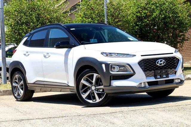 New Hyundai Kona OS.3 MY20 Highlander 2WD, 2019 Hyundai Kona OS.3 MY20 Highlander 2WD Chalk White & Black Roof 6 Speed Sports Automatic Wagon