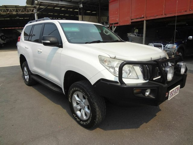 Used Toyota Landcruiser Prado KDJ120R 07 Upgrade Standard (4x4), 2009 Toyota Landcruiser Prado KDJ120R 07 Upgrade Standard (4x4) White 5 Speed Automatic Wagon