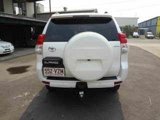 2009 Toyota Landcruiser Prado KDJ120R 07 Upgrade Standard (4x4) White 5 Speed Automatic Wagon