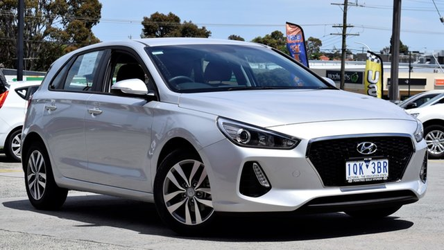 Demo Hyundai i30 PD2 MY18 Active, 2018 Hyundai i30 PD2 MY18 Active Platinum Silver 6 Speed Sports Automatic Hatchback