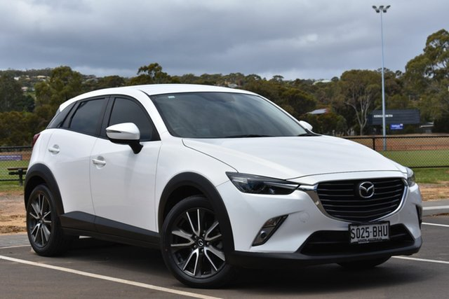 Used Mazda CX-3 DK2W7A sTouring SKYACTIV-Drive, 2015 Mazda CX-3 DK2W7A sTouring SKYACTIV-Drive White 6 Speed Sports Automatic Wagon