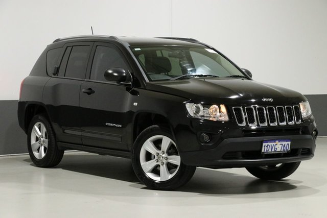 Used Jeep Compass MK MY12 Sport (4x2), 2012 Jeep Compass MK MY12 Sport (4x2) Black Continuous Variable Wagon